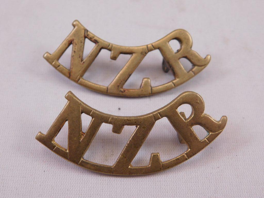 Nzr New Zealand Regiment Shoulder Titles Trade In Military