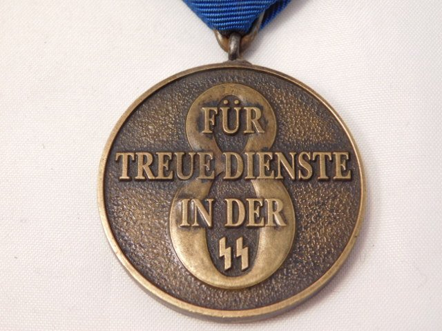 WWII German SS 8 Year Long Service Medal