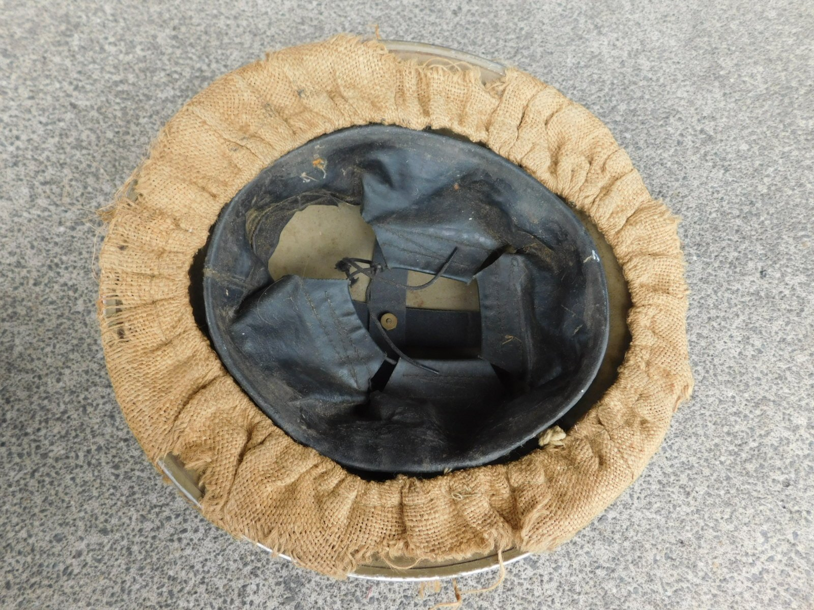 773878a50f9 Home   Helmets   Hats   WWII British Helmet Steel MK II with Hessian Cover  Dated 1941