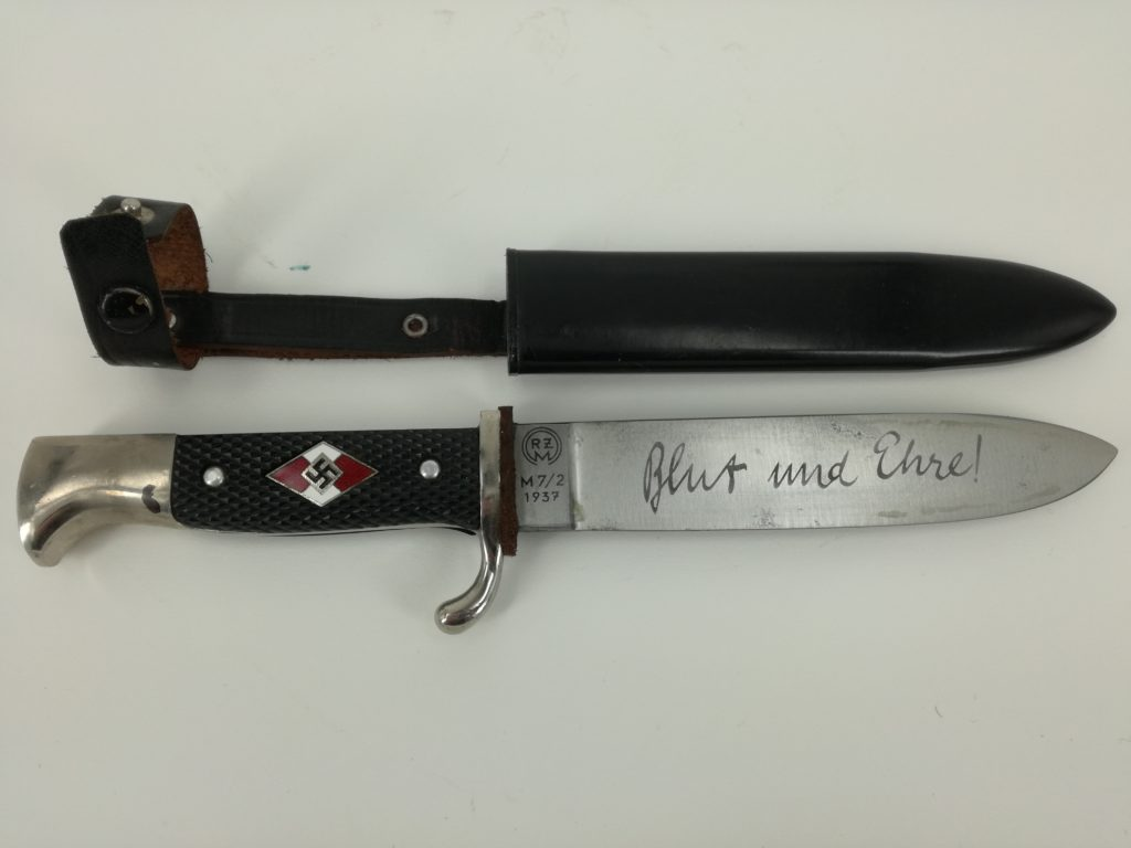 German Scout Knife Converted Into Wwii Hitler Youth Knife